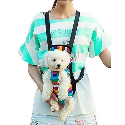 Tiaobug Hundetasche Rucksack Hundetragetaschen Hunderucksack Rucksack Pet Carrier für kleine Hunde und Katzen S M L XL (S(0-2.5KG), (Hund Pet Carrier)