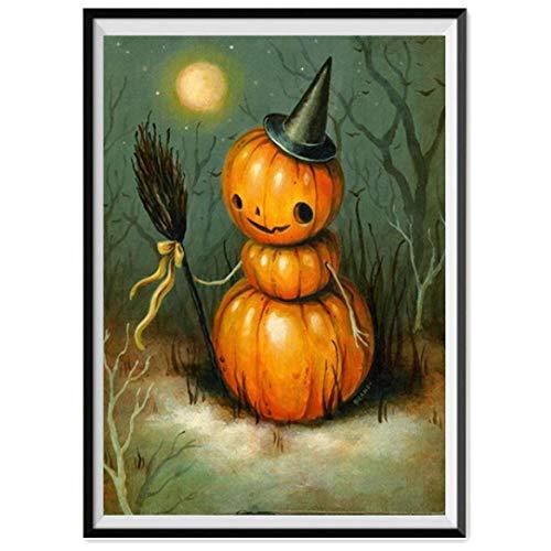 (VEMOW populäre Halloween 5D Stickerei Party Dekoration Gemälde Strass eingefügt DIY Diamant Malerei (Mehrfarbig, 30cmx40cm))
