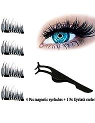 JUHON NEW Ultra-mince 0,2 mm Magnetic Eye Lashes 3D Reusable False Magnet Eyelashes Extension