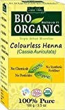 Colourless Neutral Henna Powder BIO Organic (Cassia Auriculata) with Color Recipe Book (100 g)