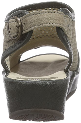 FLY London Brem599fly, Sandales  Bout ouvert femme Beige - Beige (TAUPE/FOREST 001)