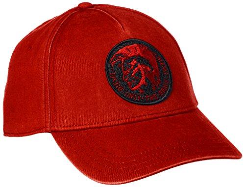 Diesel Herren Accessoires Hüte (DIESEL Herren Cindi Basecap, Cindians Cap, Hat One Size - Schwarz, Blau oder Rot: Farbe: Rot)