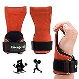 Leder Zughilfen für Krafttraining Latzughilfe Klimmzughaken Bodybuilding und Fitness Gewichtheben Handgelenkstütze,für Frauen und Männer,Anti-Rutsch - By EnergeticSky™