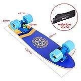 Baytter 22 Zoll Skateboard Komplett Board Mini-Cruiser aus 7-lagigem Ahornholz 57 x 15cm für Kinder, Jugendliche und Erwachsene - 6