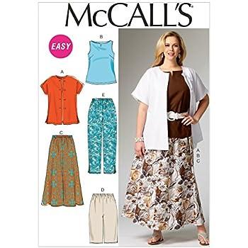 Mccalls Ladies Plus Size Easy Sewing Pattern 6970 Shirt Top Skirt