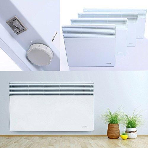 Wandkonvektor Elektroheizung Heizgerät Heizkörper Heizung Elektro Heizer Wärme | 1000W