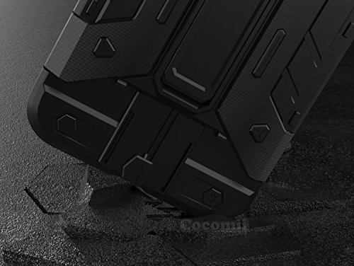 iPhone 8 Plus / 7 Plus Hülle, Cocomii Transformer Armor NEW [Heavy Duty] Premium Built-in Multi Card Holder Kickstand Shockproof Hard Bumper Shell [Military Defender] Full Body Dual Layer Rugged Cover Gray