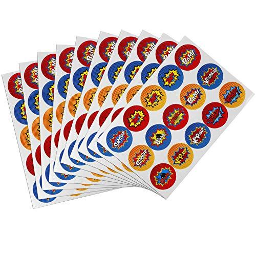-Aufkleber Kinder Party Superheld Aufkleber Selbstklebend DIY Party Sticker Für Notizbuch Scrapbooking Label Dekoration 10 Blätter 150 Stück ()