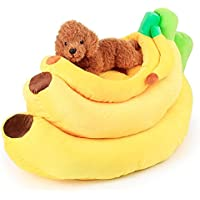 bigsea Frutas Banana-Shaped Base Pad Perrera Perro de Mascota Cama