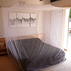 Mokito Box200, mosquito net, mosquito repellent for travel. For double beds. Extra tight: 225mesh