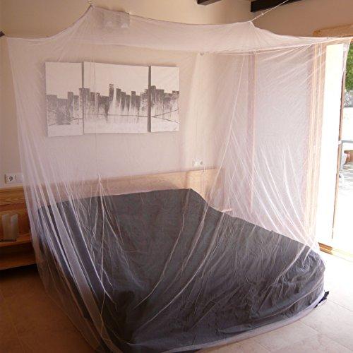 Mokito Box200, Moskitonetz, Mückenschutz für die Reise. Für Doppelbetten. Extra dicht: 225mesh