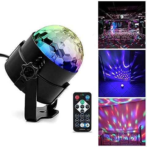Discokugel Partylicht , Ubegood LED Disco Licht mit Fernbedienung DJ Party licht Bühnenbeleuchtung LED Lichteffekt Discokugel Lampe Projektor für Weihnachten, Halloween, Disco, Bar, Partei,