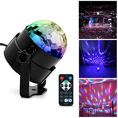 Discokugel Partylicht , Ubegood LED Disco Licht mit Fernbedienung DJ Party licht Bühnenbeleuchtung LED Lichteffekt Discokugel Lampe Projektor für Weihnachten, Halloween, Disco, Bar, Partei, Tanzfläche