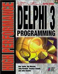 Delphi 3 Programming, w. CD-ROM (High Performance)
