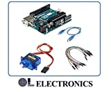 #8: OL ELECTRONICS Arduino UNO with Pack of Servo Motor SG90 , USB Cable and 20 Pieces Male to Male Jumpers