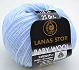 Lanas Stop baby wool superwash Fb. 402 bleu - 100%