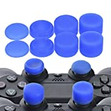 YoRHa Professionelle Aufsätze Daumengriffe Thumb Grips Thumbstick Joystick Cap Cover (blau) Extra Hoch 8 Stück Pack für PS4, Switch PRO, PS3, Xbox 360, Wii U Tablet, PS2 Controller