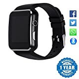 Captcha X6 Curve Display Bluetooth Smartwatch with Camera/ SIM / TF Card Slot Pedometer Anti-Lost Compatible with Xiaomi, Lenovo, Apple, Samsung, Sony, Oppo, Gionee, Vivo Smartphones (1 Year Warranty)