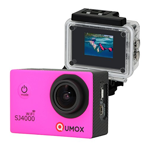 QUMOX WIFI Actioncam SJ4000 Action Sport Kamera Camera Waterproof Full HD 1080p Video Helmkamera Rosa (1080p Sj4000 Wifi)