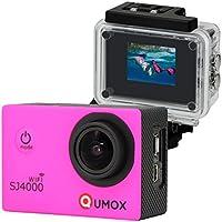 QUMOX WIFI SJ4000 - Cámara de Deporte para casco Impermeable, Video de Alta definición 1080p 720p, Rosa