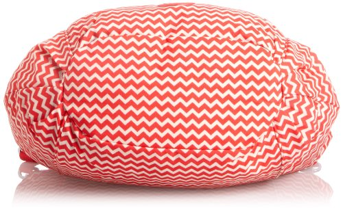 Kipling GWENDOLYN B K15339900, Unisex-Erwachsene Schultertaschen 47x33x16 cm (B x H x T) Rot (Chevron Red Pr)