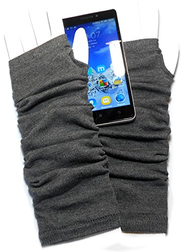 PRESKIN – Stylishe Stulpen-Handschuhe, Cool – aber warm, Armstulpen lang, für mehr Fingerspitzengefühl für's Smartphone, Navi, Tablet (Navi Kostüme)