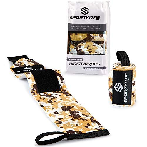 Sportvitae® Einstellbare Handgelenk Bandagen [Heavy Duty Wrist Wraps] 45 cm Handgelenkbandage für Crossfit, Calisthenics, Fitness, Bodybuilding, Kraftsport, Gewichtheben - für Frauen & Männer - 1 Paar
