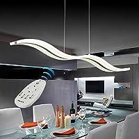 vi de xixi suspension led dimm lustre moderne plafonniers bar rglable en hauteur tlcommande pour salle