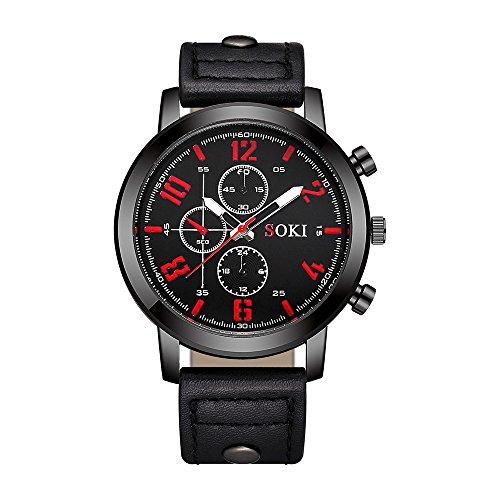 Keepwin Arbeiten Sie Nylonbügel Mann Armbanduhr, Zufällige Einfache Analoge Quarz Runde Fall Uhr Um (Mehrfarbig A)