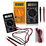 Yeshi Mini Portable AC/DC 750/1000V Amp Volt Ohm Tester Meter LCD Digital Multimeter Test Tools (Yellow)