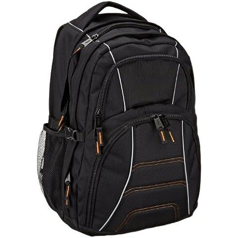 AmazonBasics - Mochila para ordenador portátil de hasta 17 pulgadas, negro