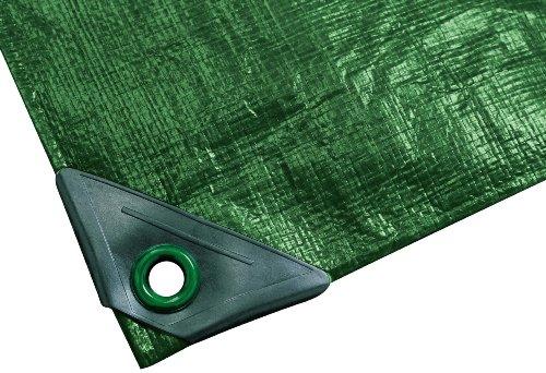 NOOR Abdeckplane SUPER 200g/m² Grün I 3 x 5 m I Allzweckplane für Schutz vor Witterung I Ideal geeignet für den Gartenbereich I UV-stabilisiert, beidseitig beschichtet, wasserfest & abwaschbar