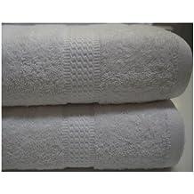 Blanco toalla de algodón egipcio 100 x 150 cm 600 gsm beytug toalla