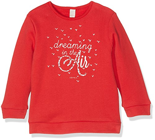 Esprit Kids Baby-Mädchen Sweatshirt Sweat Shirt, Rot (Red 375), 86