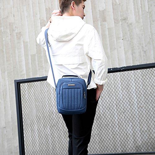 Outreo Kuriertasche Vintage Umhängetasche Sport Schultertasche Herren Messenger Bag Herrentaschen Retro Taschen für Tablet Blau