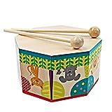 SunnyGod Baby Musikinstrumente 15cm Musikinstrument Handtrommel Tamburin mit Stock (bunt)