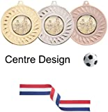 SPECIAL OFFER 10 x 50mm Football Medals with Ribbons