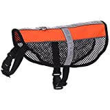 WYF Haustier-Tuch-Weiche Und Breathable Wasserdichte Hundeweste-Elastischer Kasten-Gurt-Kühlendes Sommer-Hemd Reflektierendes Safe,Orange,S