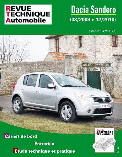 Revue Technique B761 Dacia Sandero 1.4i Mpi Gpl 03/2009>12/2010