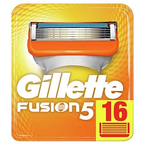 Gillette Fusion5 Cuchillas de Recambio para Maquinilla de Afeitar Gillette para Hombre, Paquete Apto para el Buzón de Correos - 16 Recambios