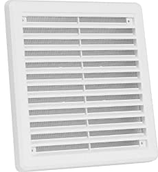 High Quality Air Vent Grille Cover 200 X 200mm (8x8inch) White Ventilation Cover
