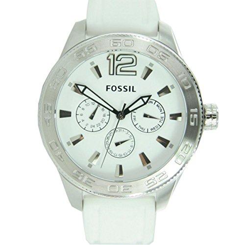 Originale Orologio da donna Fossil BQ1163 CHRONO in silicone bianco prezzo consigliato:,?{139} NUOVO 7023