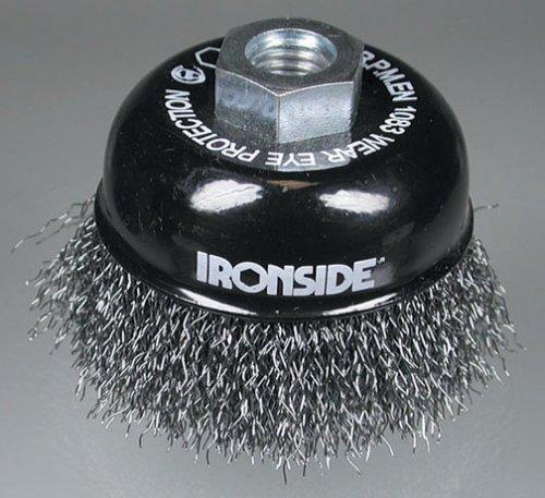 Ironside 243009 Brosse à fils métalliques 75 mm M14 ondulé pour Meuleuse d'angle