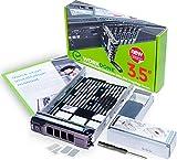 WORKDONE Vassoio Caddy da 3,5 Pollici per Disco Rigido, per Server dell PowerEdge - con Adattatore HDD da 2,5 Pollici Staffa NVMe SSD SAS SATA - Manuale di Installazione Dettagliato (in Inglese)