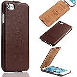 iPhone 7 Schutzhülle - ECHT LEDER - HANDGEFERTIGT - Zubehör Case Etui IPhone Flip Case Schutzhülle von TWOWAYS - Farbe Braun