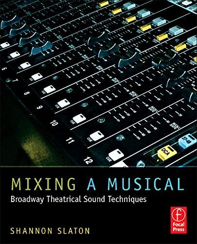 Mixing a Musical: Broadway Theatrical Sound Techniques por Shannon Slaton