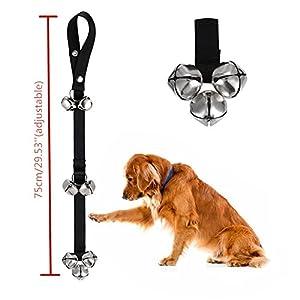 Sonnette pour chien pour dressage de chien et Housebreaking Clicker Porte Bell