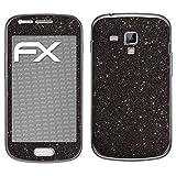 atFolix Samsung Galaxy S Duos Skin FX-Glitter-Black-Sky Designfolie Sticker - Reflektierende Glitzerfolie