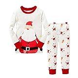 TMEOG Natale Pigiama due pezzi, Inverno domestico della neonata del bambino del ragazzo del pagliaccetto del neonato di Natale di inverno + pantaloni (5-6 Anni)