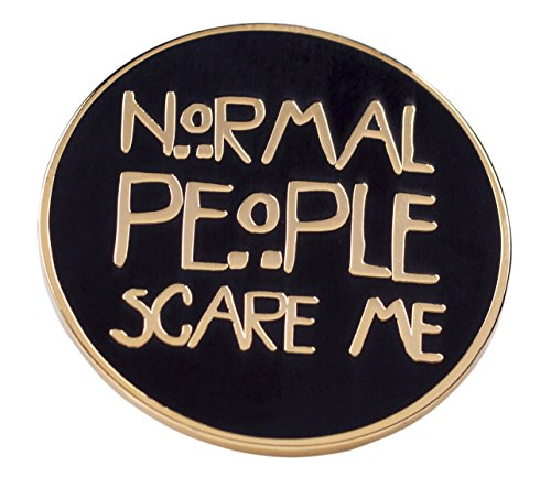 American Horror Story Inspired Normal People Scare Me Enamel Pin from Punky Pins